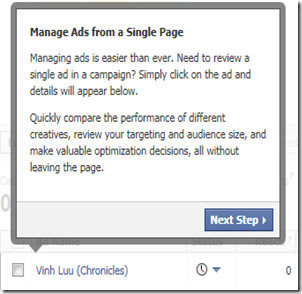 Manage ads from a single page